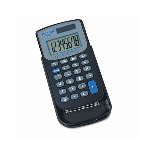Victor Technology Antimicrobial Pocket Calculator, 8-Digit Lcd