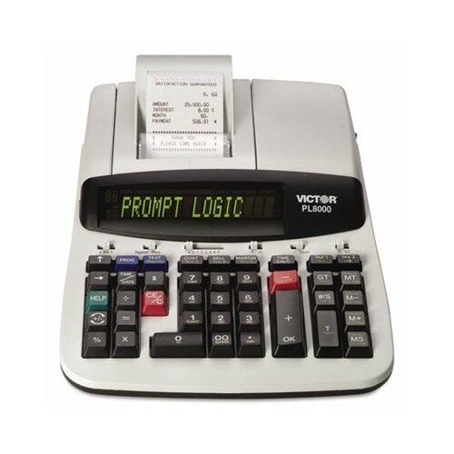 Victor Technology Prompt Logic Printing Calculator, 14-Digit Dot Matrix