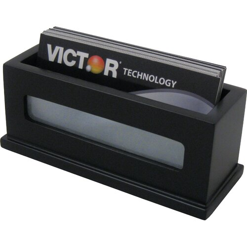 Victor Technology Midnight Business Card Holder