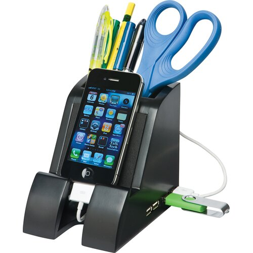Victor Technology Smart Charge Pencil Cup with USB Hub