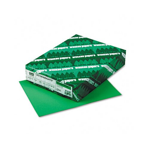 Wausau Papers AstroBright Color Laser/Inkjet Paper, Gamma Green, 24lb, Letter, 500 Sheets