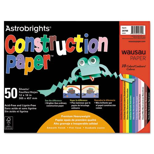 Wausau Papers Astrobrights Construction Paper