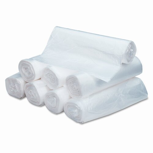 Webster Industries Ultra Plus High Density Can Liners, 56 Gal, 16 Mic, 43 X 48, 200/Carton
