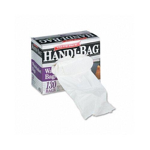 Webster Industries Handi-Bag Handi-Bag Super Value Pack, 8 Gallon, .55 Mil, 21-1/2 X 24, 130/Box