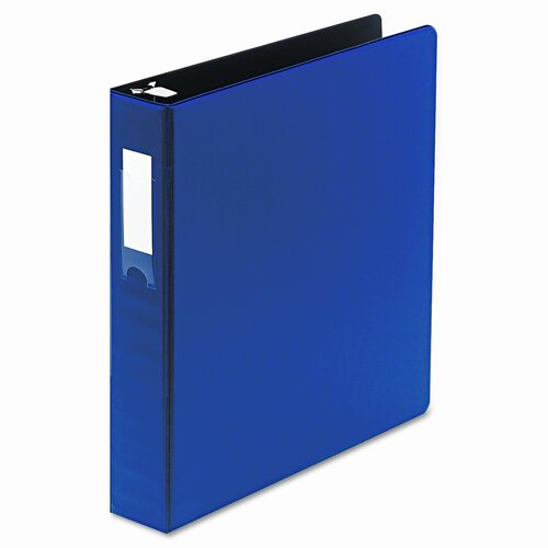 "Wilson Jones Locking No-Gap Round Ring Binder with Label Holder, 1-1/2"" Capacity"