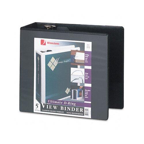 Wilson Jones D-Ring Vinyl View Binder, 5in Capacity