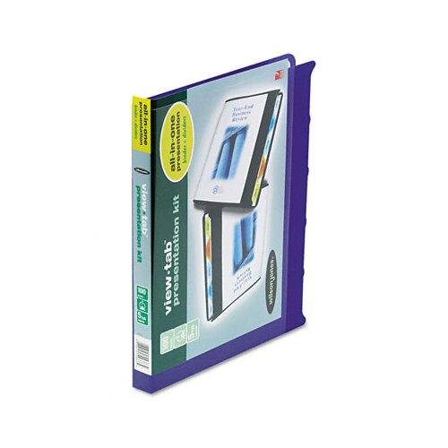 "Wilson Jones View-Tab Round Ring Presentation Binder, 5-Tab Style, 5/8"" Capacity"
