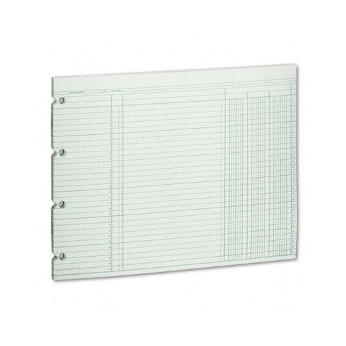 Wilson Jones Accounting Sheets, 3 Column, 9-1/4 X 11-7/8 , 100 Loose Sheets/Pack