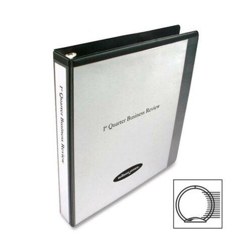 "Wilson Jones Economy Vinyl Round Ring View Binder, 11 X 8-1/2, 1"" Capacity"