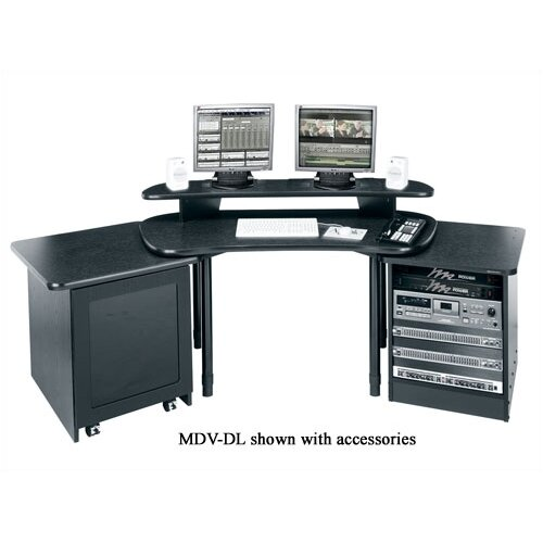 Middle Atlantic MDV Series Corner Unit, Includes Configurable 1 or 3 Piece Overbridge