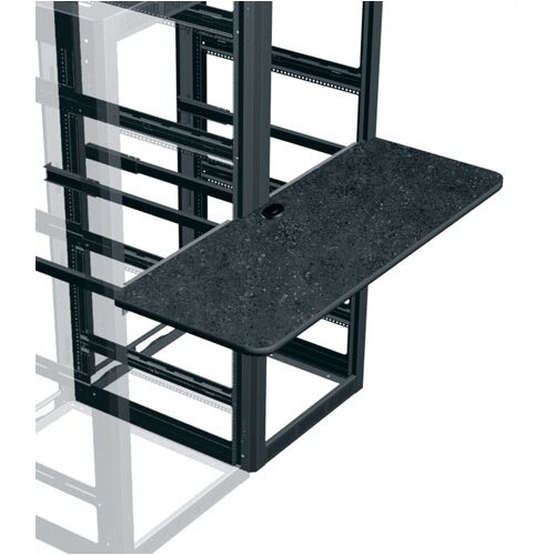 Middle Atlantic 3 Bay Monitoring Console Work Surface, 90 Degree Corner, Black T-Mold Trim