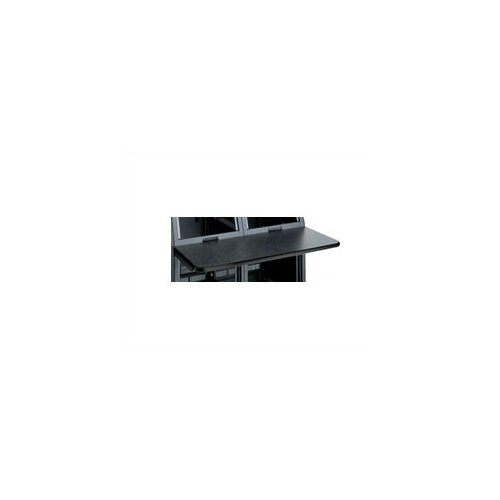 Middle Atlantic 2 Bay Monitoring Console Work Surface, 45 Degree Corner, Black T-mold Trim