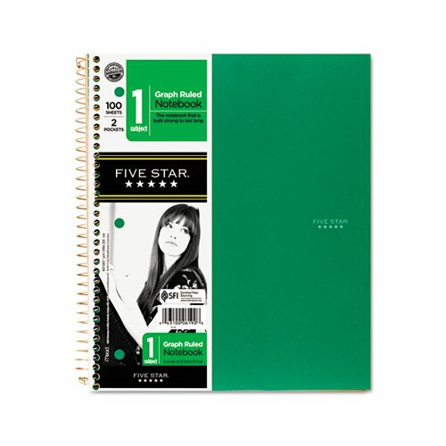 Mead Five Star Wirebound Notebooks, Quadrille, 8 1/2 X 11,100 Sheets