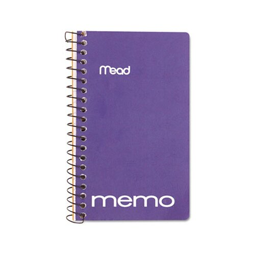 "Mead Memo Book, College Ruled, 5"" X 3"", Wirebound, 60 Sheets"