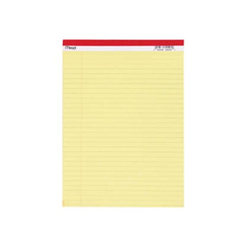 Mead Legal Pad 8.5x11.75 50 Ct Canary