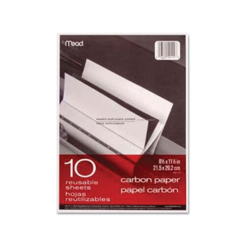 Mead Carbon Mill Finish Paper, 8-1/2 X 11/Pack