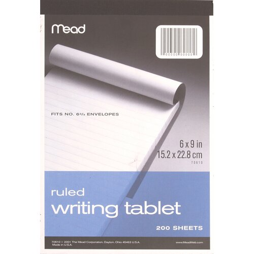 """Mead 6"""" x 9"""" Wide Ruled Writing Tablet"""