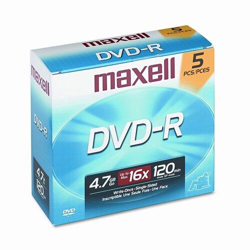 Maxell Corp. Of America DVD-R Disc, 4.7GB, 16x
