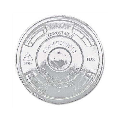 Eco-Products, Inc Compostable Cold Drink Cup Lids, Flat, 1000/Carton