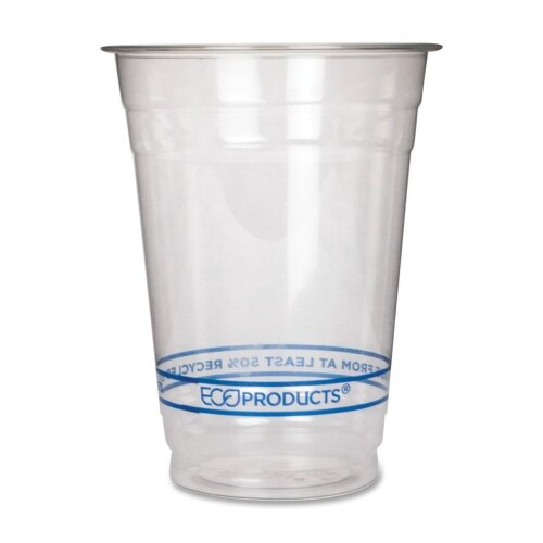 Eco-Products, Inc Bluestripe Recycled Content Cold Drink Cups, 16 Oz, 50/Pack