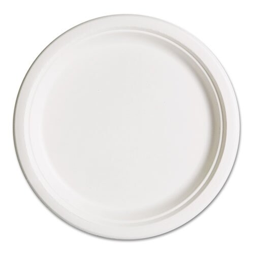 "Eco-Products, Inc Compostable Sugarcane Dinnerware, 10"" Plate, 50/Pack"
