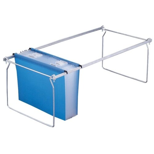 Anglers Company Ltd. Letter Expand-O-File Hanging Files, 12 Pockets, Letter-Size, Blue