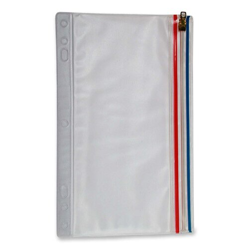 "Anglers Company Ltd. Zip-All Ring Binder Pockets, 9-1/2""x6"", Clear"