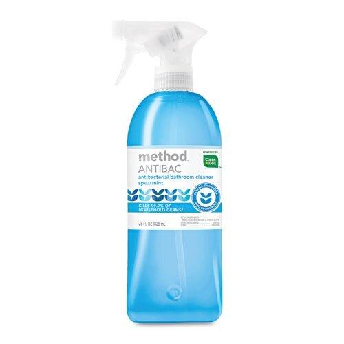 Method® Antibacterial Spray, Bathroom, Spearmint, 28 Oz Bottle