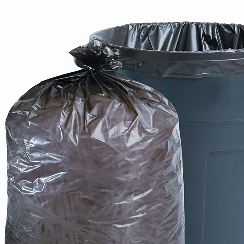 Stout Total Recycled Plastic Trash Garbage Bags, 33 Gal, 1.3Mil, 33X40, 100/Carton