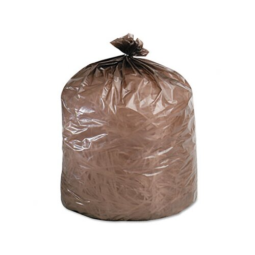 Stout Eco-Degradable Plastic Trash Garbage Bag, 20-30 Gal, .8Mil, 30X36, 60/Box