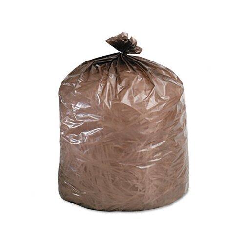 Stout Eco-Degradable Plastic Trash Garbage Bag, 20-30 Gal, .8Mil, 30X36, 60/Box