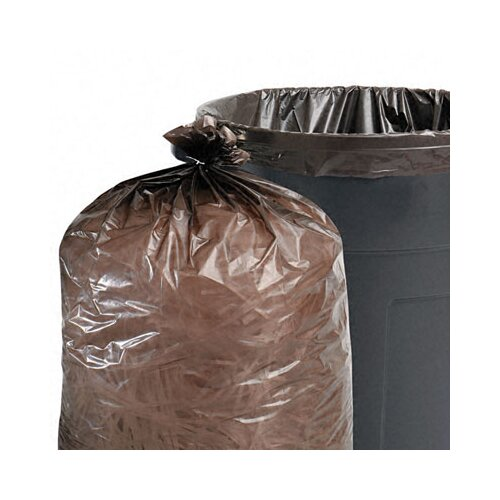 Stout Total Recycled Plastic Trash Garbage Bags, 40-45 Gal, 1.5Mil,40X48, 100/Carton