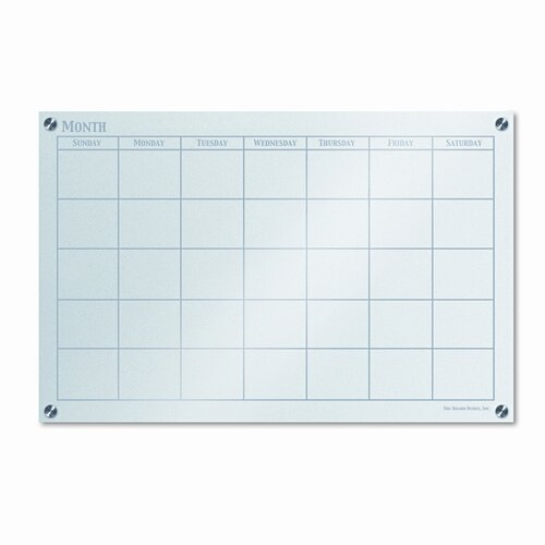 """The Board Dudes Dudes Monthly Planner 1'11"""" x 2'11"""" Glass Board"""