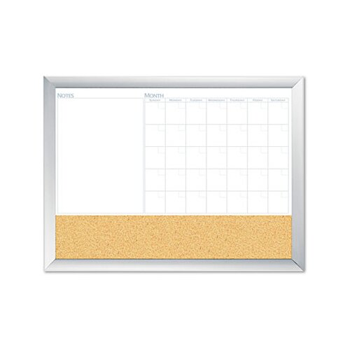 The Board Dudes Magnetic Dry Erase 3-N-1 2' x 3' Whiteboard and Bulletin Board