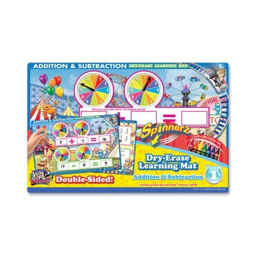 The Board Dudes Addition/Subtraction Spinner Mat, Add/Subtract, Assorted