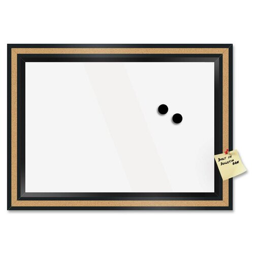 "The Board Dudes Magnetic Cork 1' 6"" x 1' 10"" Whiteboard"