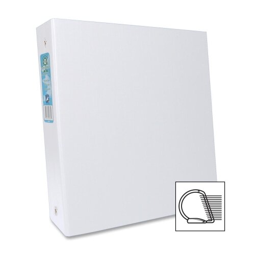 "Aurora Products D-Ring Binders, 2"" Cap, 11""x8-1/2"", White"