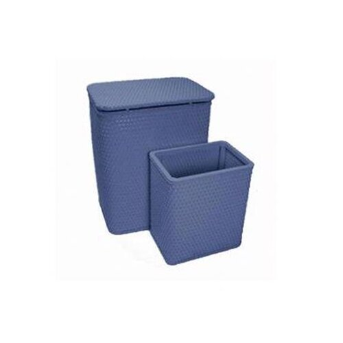 Redmon for Kids Chelsea Wicker Nursery Hamper and Matching Wastebasket