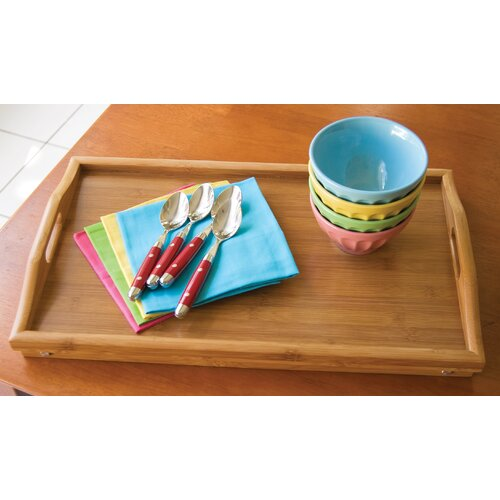 Lipper International Bamboo Bed Tray with Folding Legs