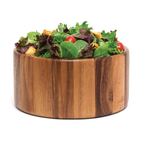 "Lipper International Acacia Serveware 10"" Straight Side Bowl"