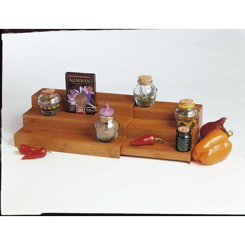 Lipper International Bamboo Expandable Triple Step Spice Shelf