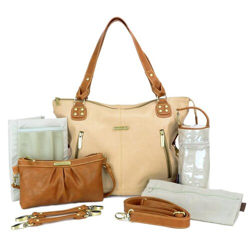 Kate Convertible Diaper Bag in /Saddle