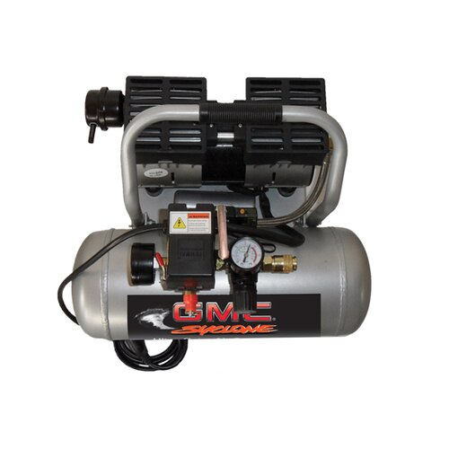 GMC Power Equipment 1.6 Gallon GMC Syclone 1675A Ultra Quiet and Oil-Free Air Compressor