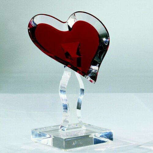 Sculptures and Art Pieces Acrylic Loving Heart Sculpture