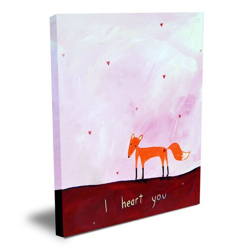 Cici Art Factory Words of Wisdom I Heart You Canvas Art