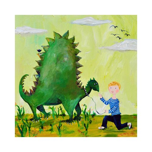 CiCi Art Factory Wit & Whimsy Dino Canvas Art