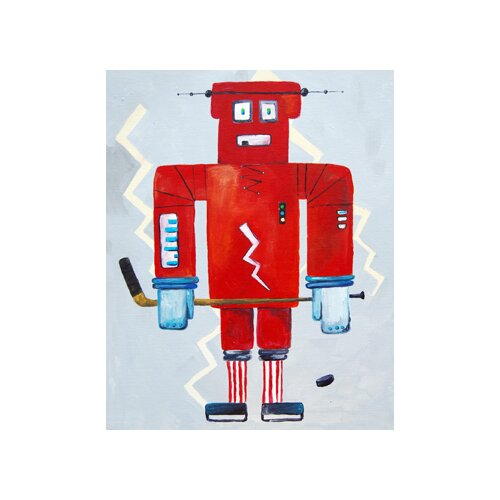 CiCi Art Factory Bom Loves Hockey Paper Print