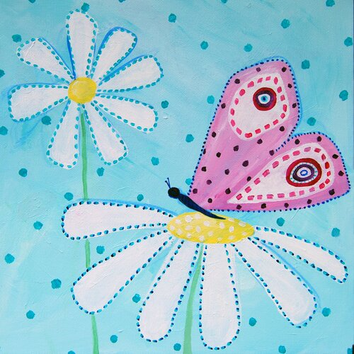 CiCi Art Factory Patchwork Daisy Daisy Paper Print