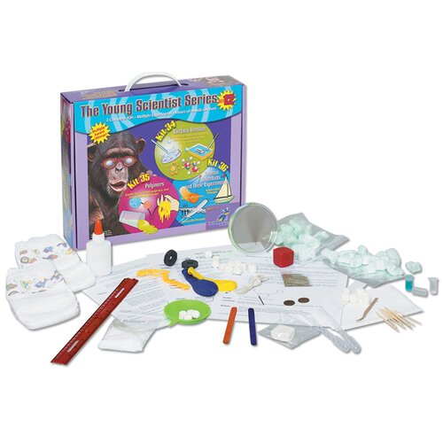 The Young Scientists Club Set 12: Surface Tension, Polymers, & Famous Scientists and Their Experiments Science Kit