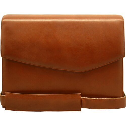 Aaron Irvin Sienna Leather Briefs Messenger Bag